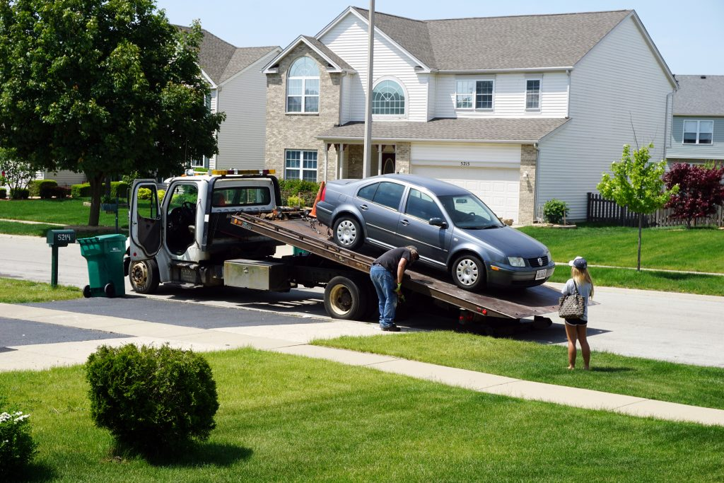 tow car from house denton tx