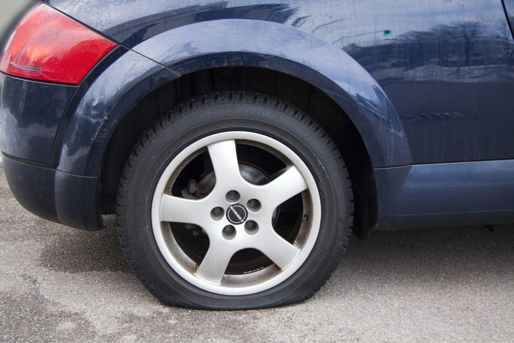 car flat tire denton tx